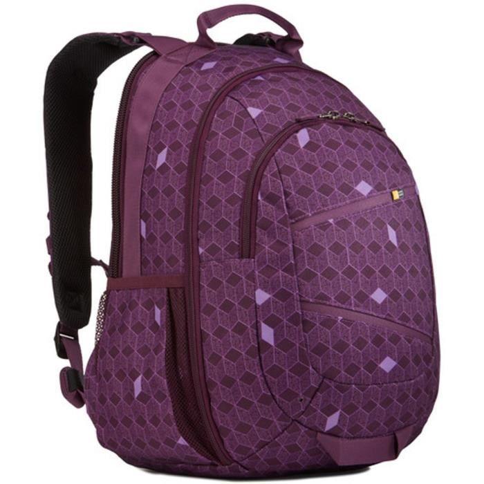 """CASE LOGIC Sac à dos pour ordinateur portable - 15,6"""" - Purple Cubes"""
