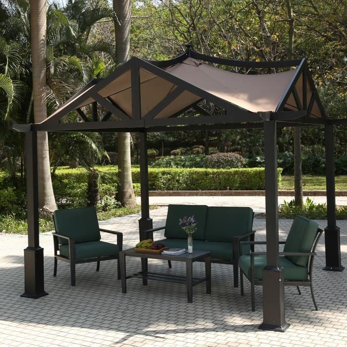 Gazebo tonnelle jardin auvent Patio pavillon soleil ombre abri ...