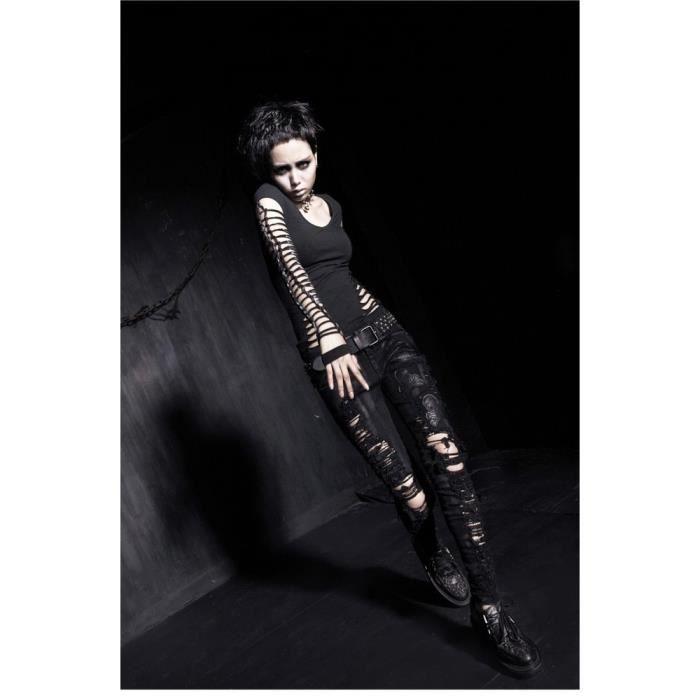 34ebfdee8 Pantalon gothique PUNK RAVE 'dark destroy' Noir Noir - Achat / Vente ...