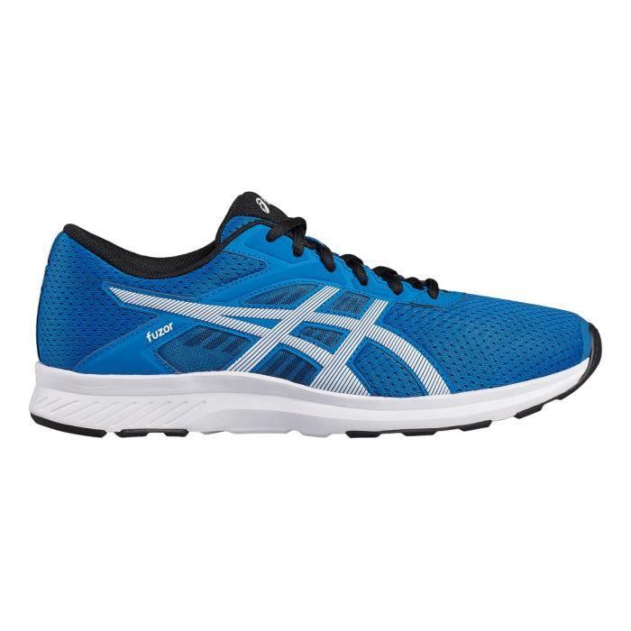 Asics Fuzor Blanc-Bleu - Chaussures Chaussures-de-running Homme