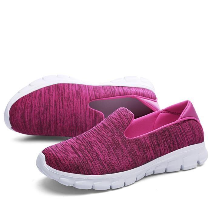 Chaussures homme de Chaussures de course légères Respirant chaussures Légères chaussure occasionnels Chaussures paresseux violet FLTwo1UHJs
