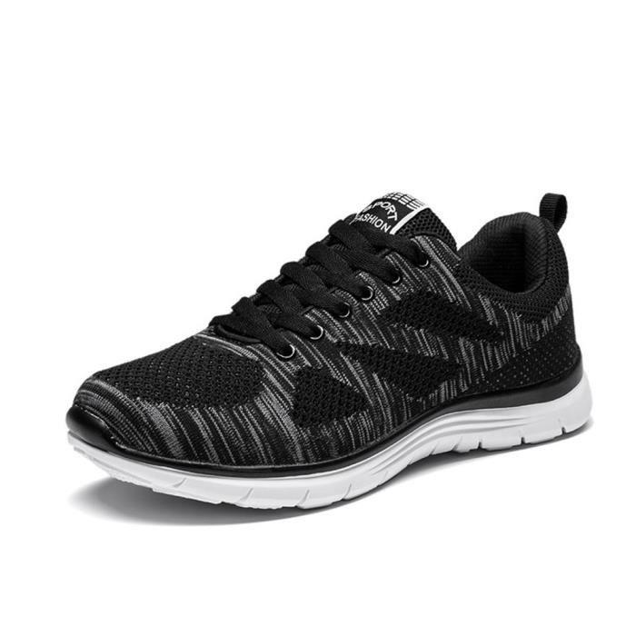 Chaussures de sport Chaussures hommes d'été respirante chaussures de course chaussures de sport amortissement élastique chaussures