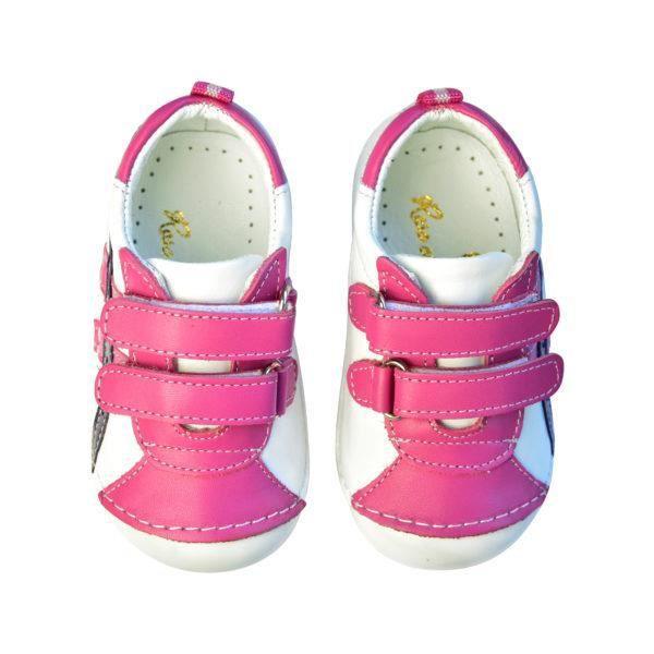 Chaussures en cuir SS 007 19 Sneakers White Pink Purple