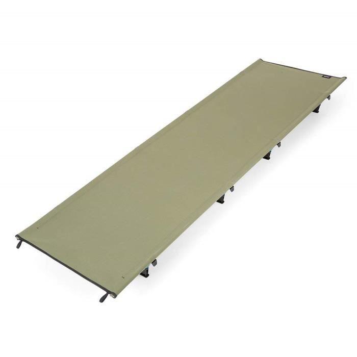 Lit de camp pliable 60x185cm lit d\'ami camping jardin pliant en alliage  d'alluminium pour extérieur