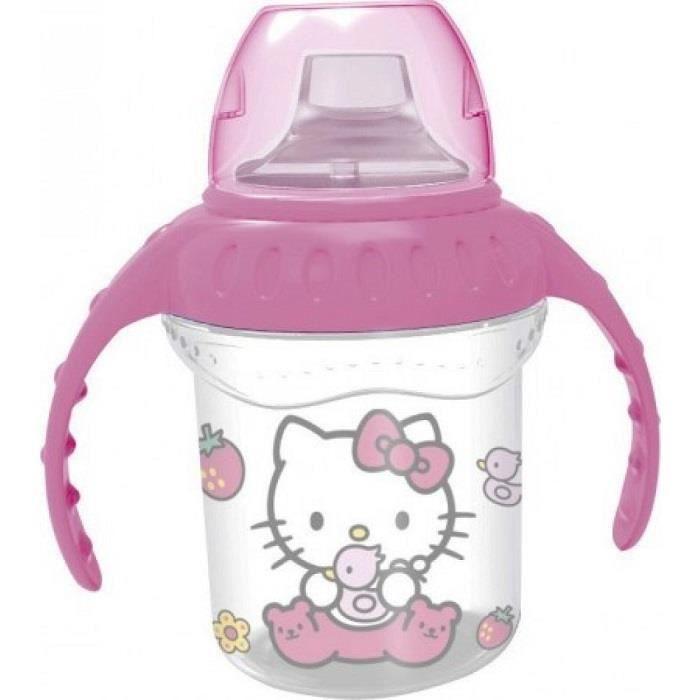 BIBERON  Verre Biberon Avec Poignée Hello Kitty Sanrio Plas