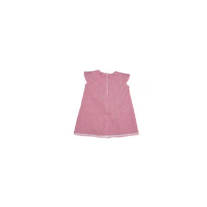 Robe bébé Vichy rouge