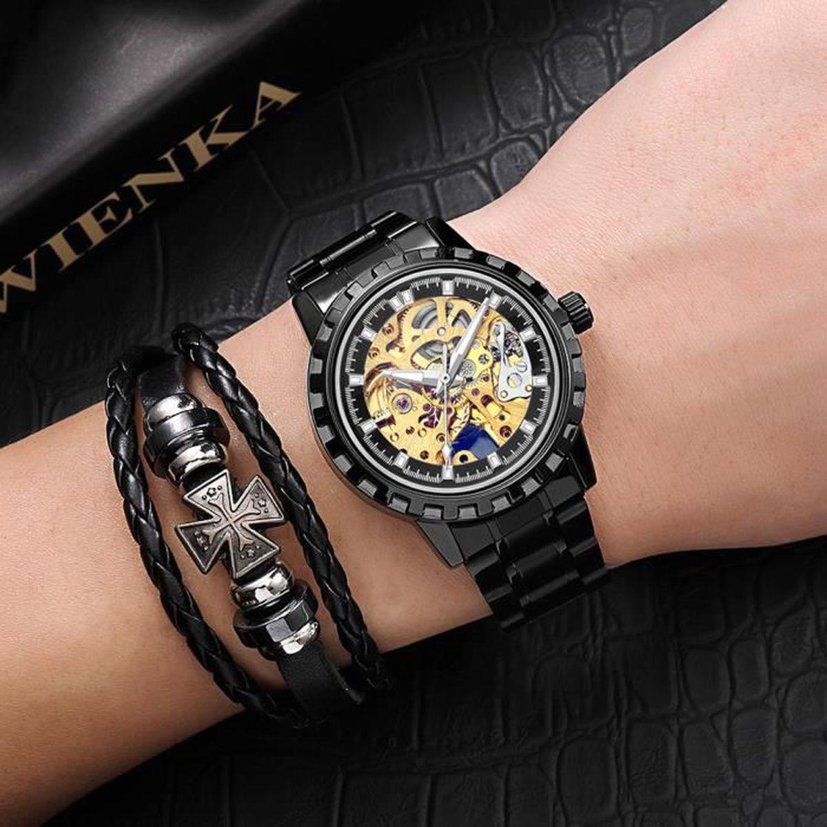 Bracelet Luxe Marque Vintage Coffret De Automatique Top VpMUzS