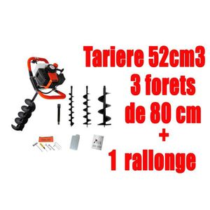 FOREUSE - TARIÈRE Tarière thermique 52cm3 AVEC RALLONGE