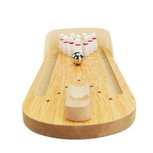 TABLE JOUET D'ACTIVITÉ Mini bowling jeux de bureau en bois enfants puzzle