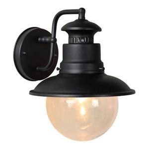 LUSTRE ET SUSPENSION LAMPEA - Applique lanterne vintage en métal noir B