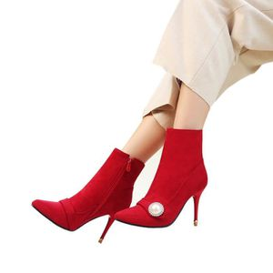 Femme Ankle Boot Chic Tempérament Séduisante Sexy élégante Young Confortable Hiver Chaud Automne Talons Hauts Court Q3e7ocPoo