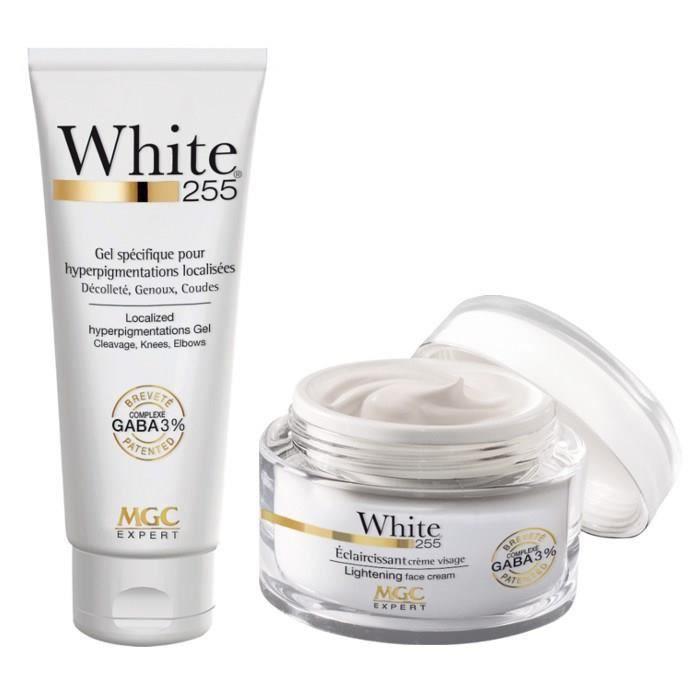 MGC Pack éclaircissant White 255 Crème visage + Gel corporelCOFFRET PRODUITS HYGIENE CORPS - COFFRET PRODUITS HYGIENE VISAGE