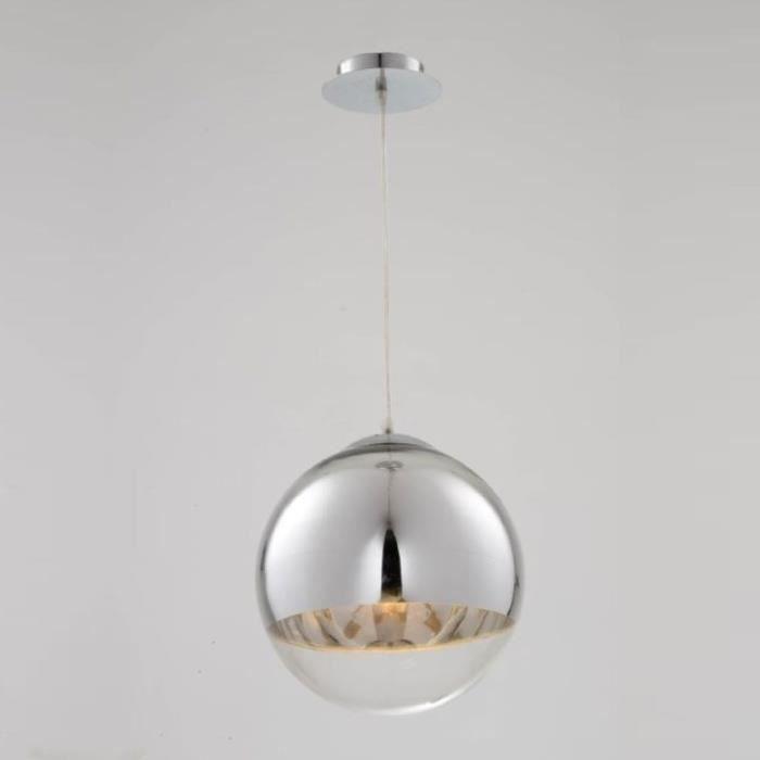 Lustre et suspension suspension design boule sphère transparent globe