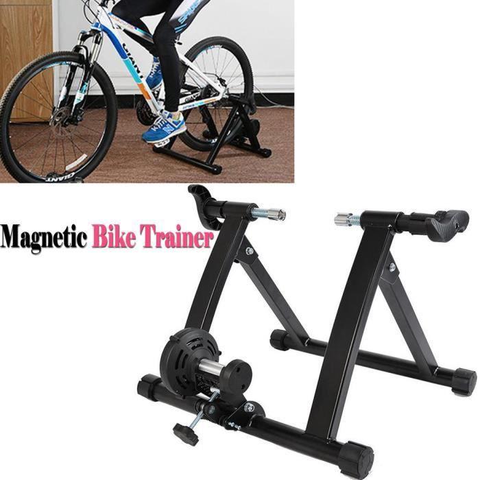 Entraîneur de Vélo Intérieur Magnétique Entraînement Turbo Réglable ...