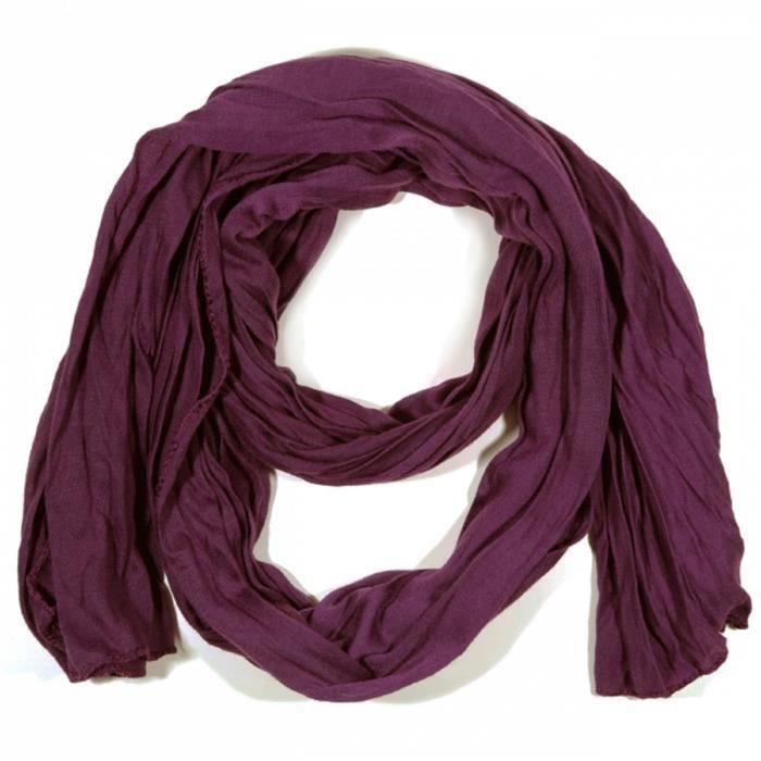 91506f40cac Foulard uni femme homme Violet prune viscose Violet - Achat   Vente ...