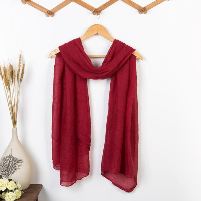 13b94126d7b8 Écharpe oversize automne femme All-Purpose styl... rouge foncé ...