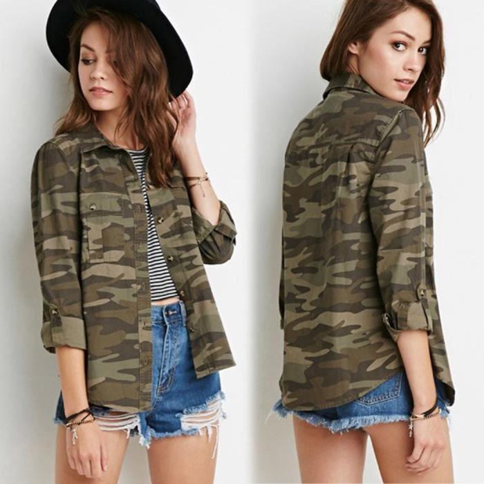 chemise militaire femme achat vente chemise militaire femme pas cher soldes d s le 10. Black Bedroom Furniture Sets. Home Design Ideas