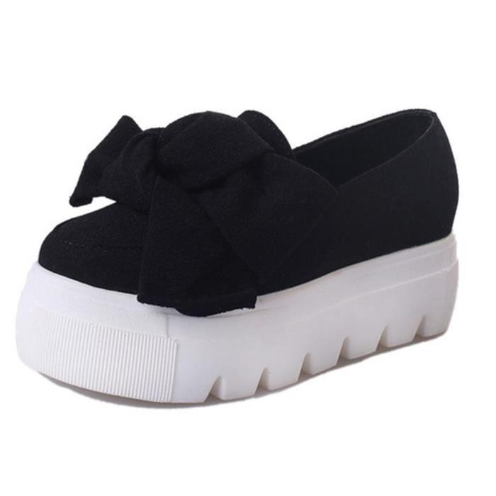 femmes Chaussure Talons hauts 10 cm de plein air Durable Poids Léger Moccasin Bowknot agréable Grande Taille 35-39