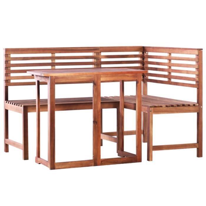 VidaXL Mobilier de balcon 2 pcs Bois d\'acacia massif - Achat / Vente ...