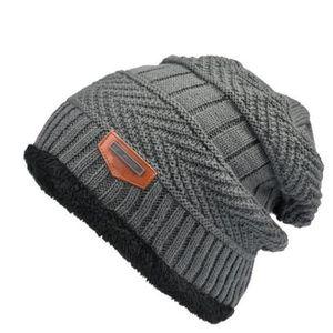 51b380021f0 ... BONNET - CAGOULE Bonnet Hommes mode Confortable Hiver Chaud Tricoté. ‹›