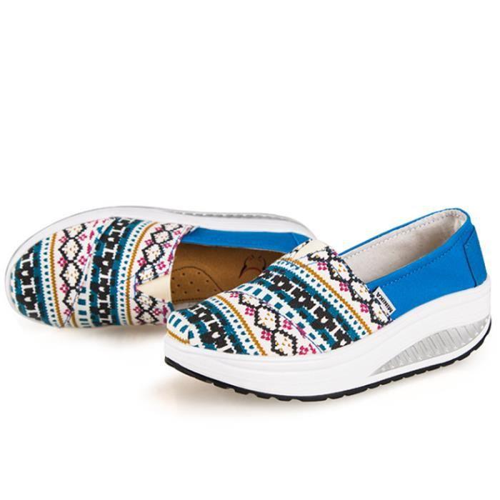 Chaussures Femmes Mode Detente Durable fond épais Chaussure XX-XZ087Vert40