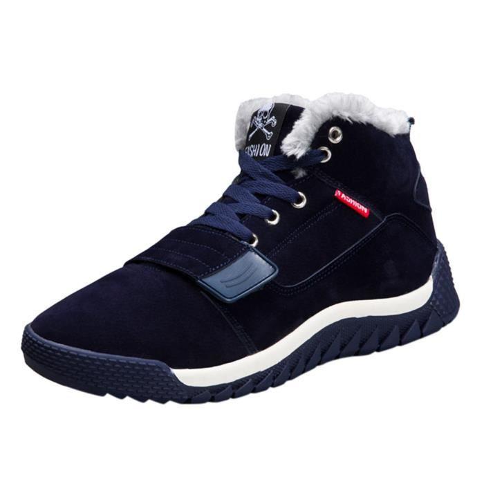 Bottes Plat Hommes Zareste®les Chaussures Hiver bleu Automne Chaudes Bas Cheville Garniture Sport wx744q0OI