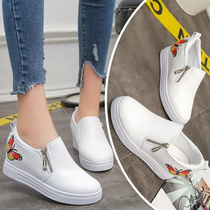 Papillon Casual Sneakers Zip Mocassins Chaussures Plat Femmes Wedges Dames down9861 Mode Pour tYxqnw8vC