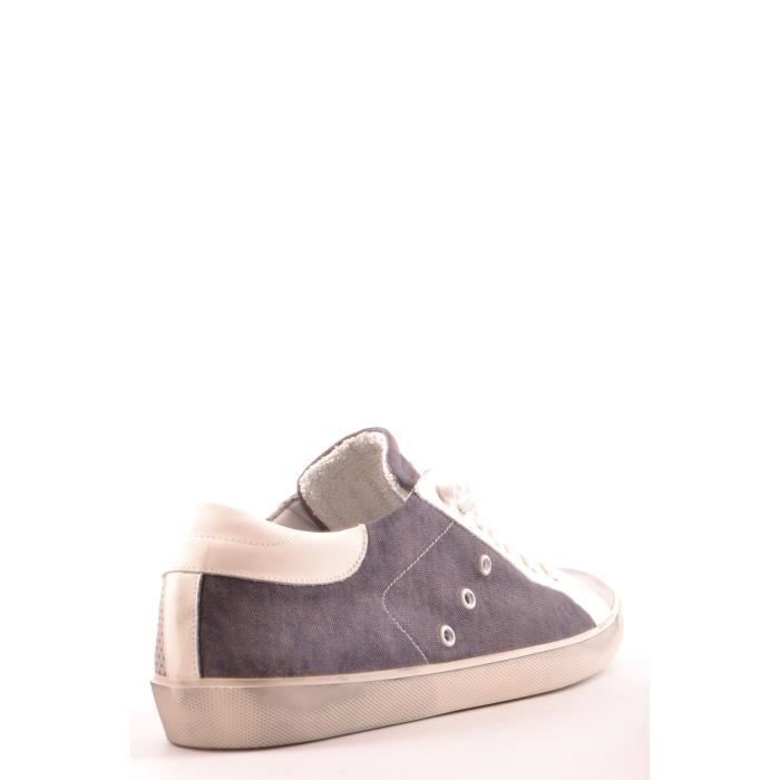 LEATHER CROWN HOMME MCBI185002O GRIS CUIR BASKETS