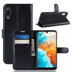 HOUSSE - ÉTUI Coque Huawei Y6 Pro 2019 - Nouveau PU Cuir Portefe