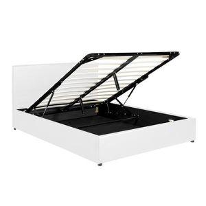 STRUCTURE DE LIT Lit coffre sublime box - Blanc 90 x 190 cm - Confo