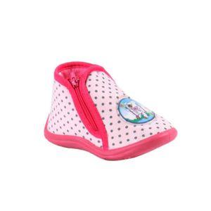CHAUSSON - PANTOUFLE babygro chaussons  à zip - bébé fille - rose