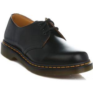 80eb0b2f139d DERBY Dr. Martens Homme femme Noir 1461 Smooth Cuir Shoe ...