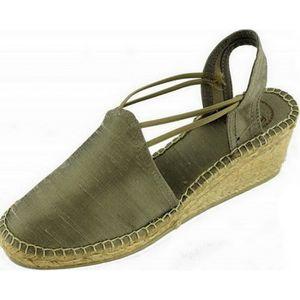 tailles pointure chaussures marque Toni compensé beige fermés Espadrilles avec soie TURIA PONS talon bout sauvage Femme petite vgACxwq
