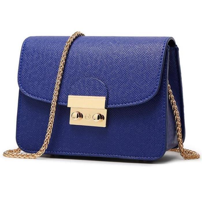 Mode Mini Cross Body Bag Purse dépaule de dames de filles avec bracelet chaîne en métal GE9B8