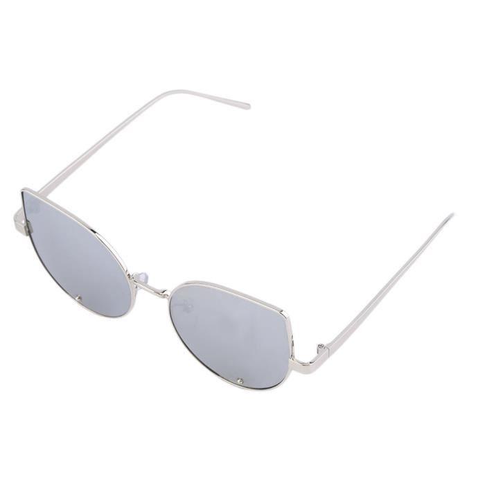 YKS fashion Beat Street lafflux de petits chantiers féminins lunettes de soleil lunettes à montures en argent diamant bords