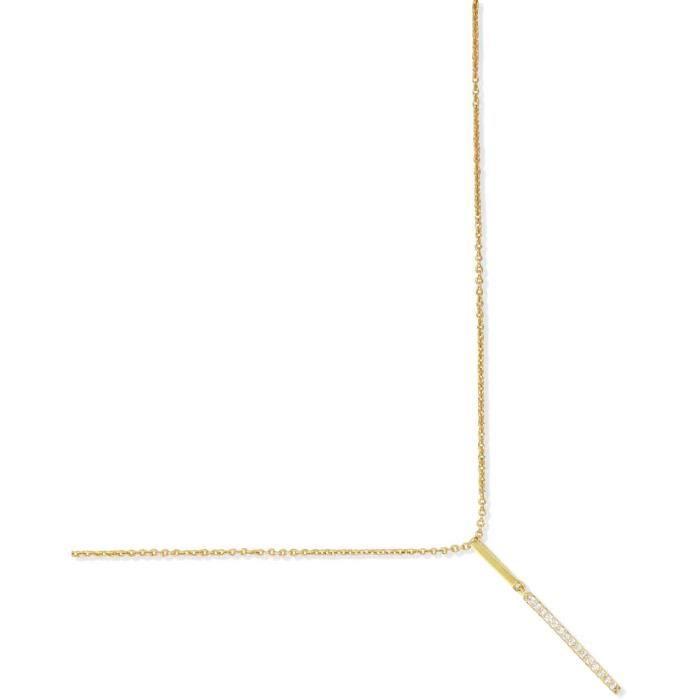 SF Bijoux - Collier plaqué or OZ (40+2+2 cm) - (301814-42)