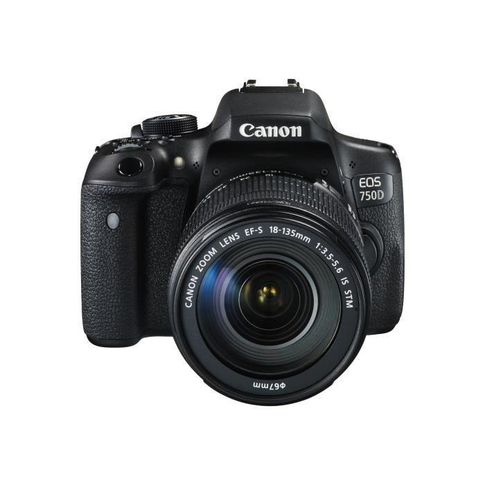 c0b393f288662 Canon EOS 750D - Appareil photo numérique Reflex + objectif EF-S 18 ...