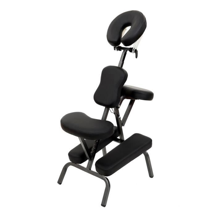 Chaise De Massage Shiatsu Siege Ergonomique Masseur Professionnel Accoudoir Reglable Spa Detente Noir