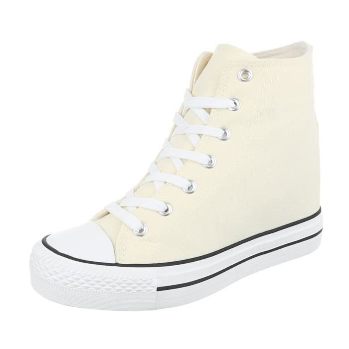 Beige Femme Chaussureswedges Loisirs 41 Sneakers Chaussures aqwTRxAf
