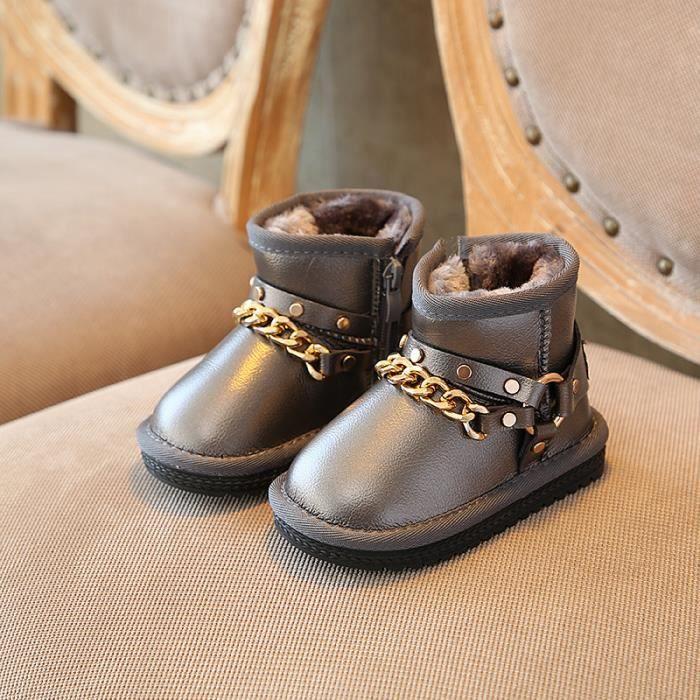 Enfants Chaussures Bottes Bébé Garçon filles Imperméable Bottes de neige
