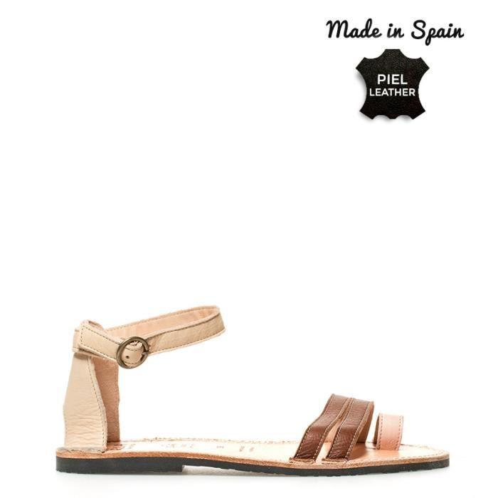 Ria Menorca - espadrilles cuir marron