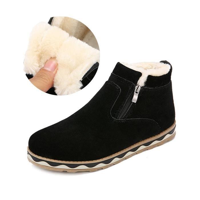 style femmes 2 neige et chaussures Bottes plates Suede forme Bottes d'hiver de Taille velours C9GGP britannique 1 38 chaudes Plate pq1HExtw