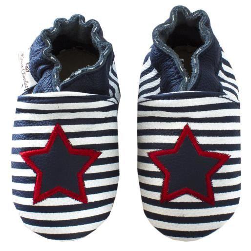 Chaussures en cuir RCC 133 06-01819 Star Stripe Navy