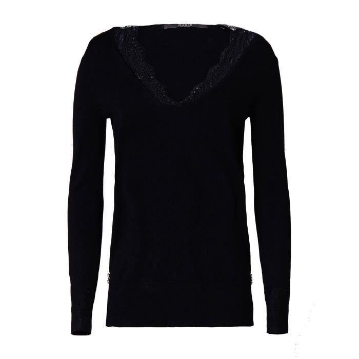 Guess Pull L Femme Beth Col En Dentelle W83r53 Taille Sweater Noir wO8XPk0n