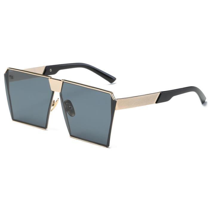 de soleil or cadre miroir lunettes Vintage Femmes de en rétro mode hommes voyage gris Feuille de aviateur lunettes unisexe qSw7wPgT