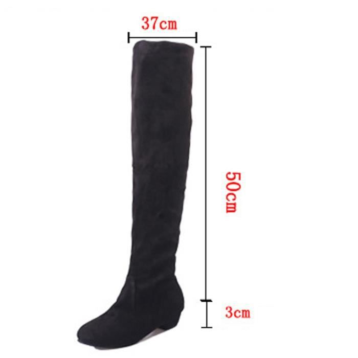 XZ654A6XZ654A6Femmes Mesdames hiver chaud Bottes longues Chaussures Overknee