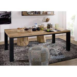 Table a manger bois et metal - Achat / Vente pas cher