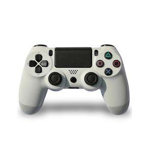 MANETTE JEUX VIDÉO Manette compatible avec PS4 Blanc avec Sticker Aut
