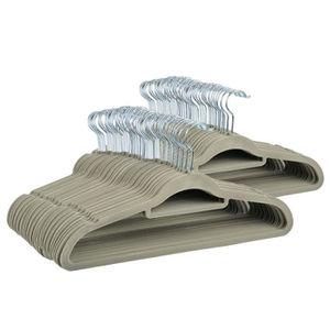 CINTRE cintres anti dérapant 50pcs floqué vêtements suspe