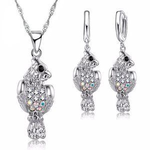 PARURE Parure bijoux femme oiseau perroquet cristaux swar 84c3c8de509f